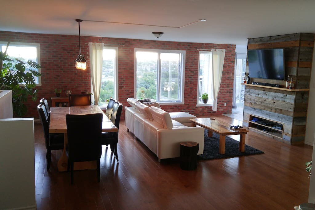 living room sherbrooke loft style condo with beautiful landscape appartements 224 11470