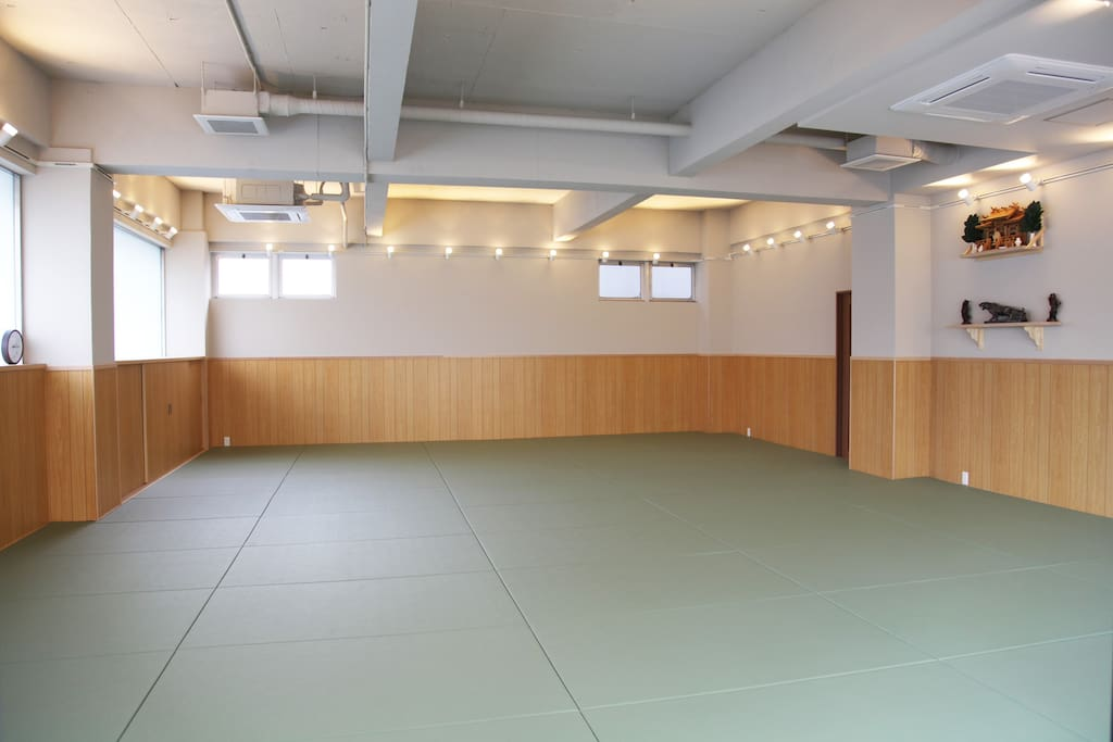 Main Dojo (training hall) on the 1st floor