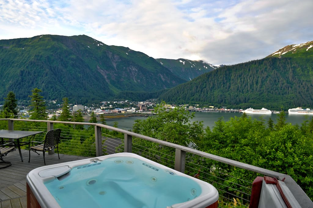 Enjoy the view from the deck and hot tub.
