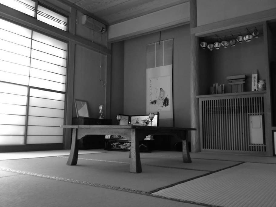 your room has Japanese traditional style.