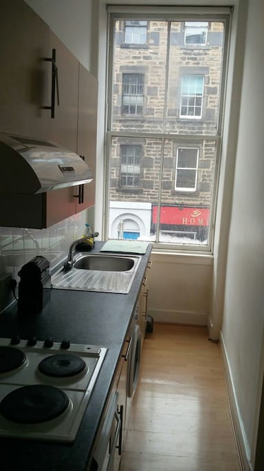 Our kitchen, with views onto the street