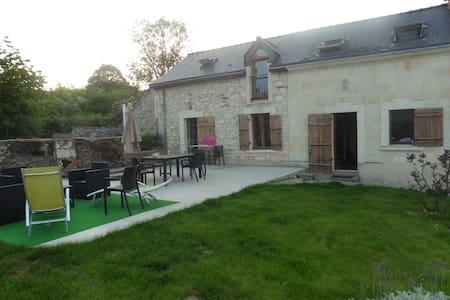 maison en tuffeau en bord de Loire