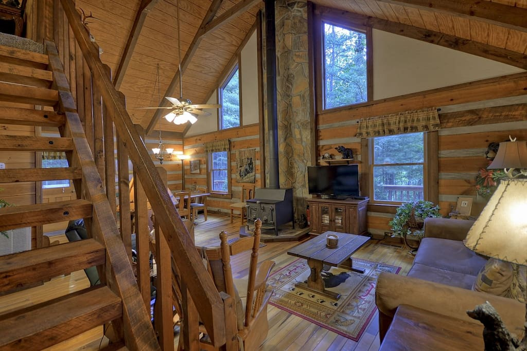 Livingroom with a Wood Burning Stove
