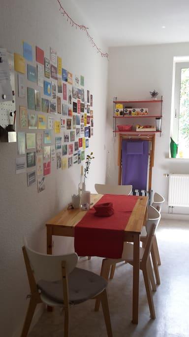 Essbereich in der Küche mit viel Platz
