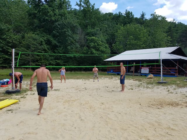 volleyball at the beach and lake