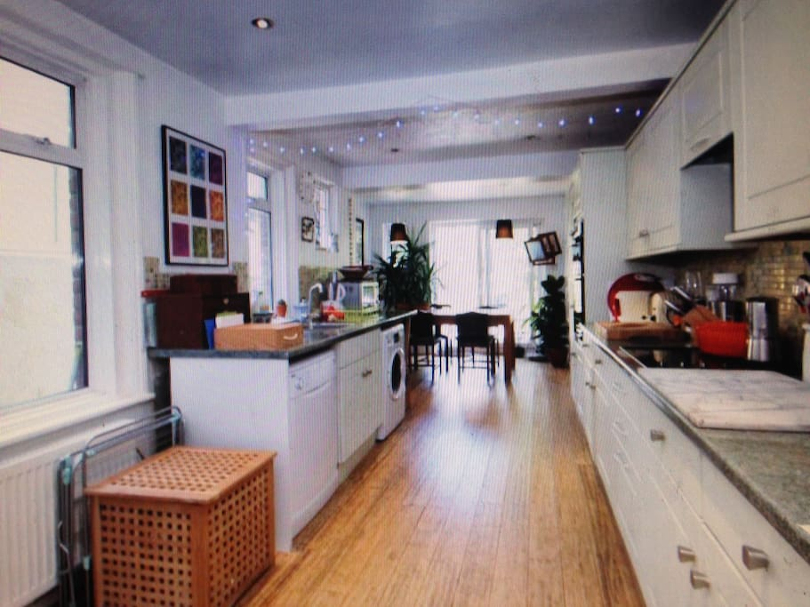 24 ft kitchen/diner leading onto garden