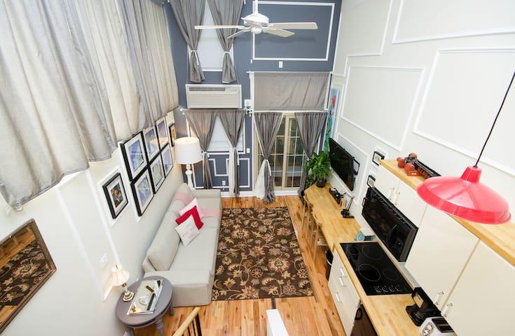 Duplex Loft Suite w/ Patio @ Box House Hotel