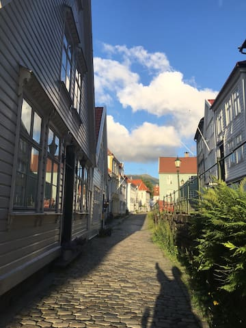 Private studio located in nicest street in Bergen