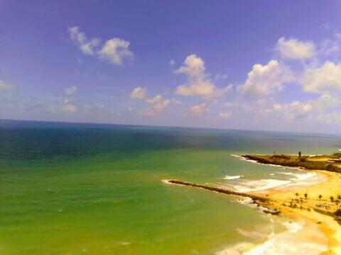 O Paraíso IV : Flat na praia de Areia Preta, Natal