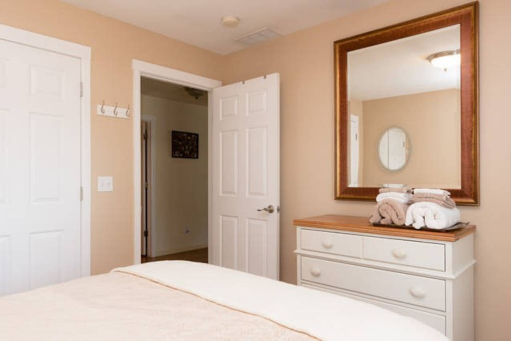 Extra Blankets towels and hours to sleep! Both Spare Bedrooms have Black Out curtains and Shades.  Guest Bedroom
