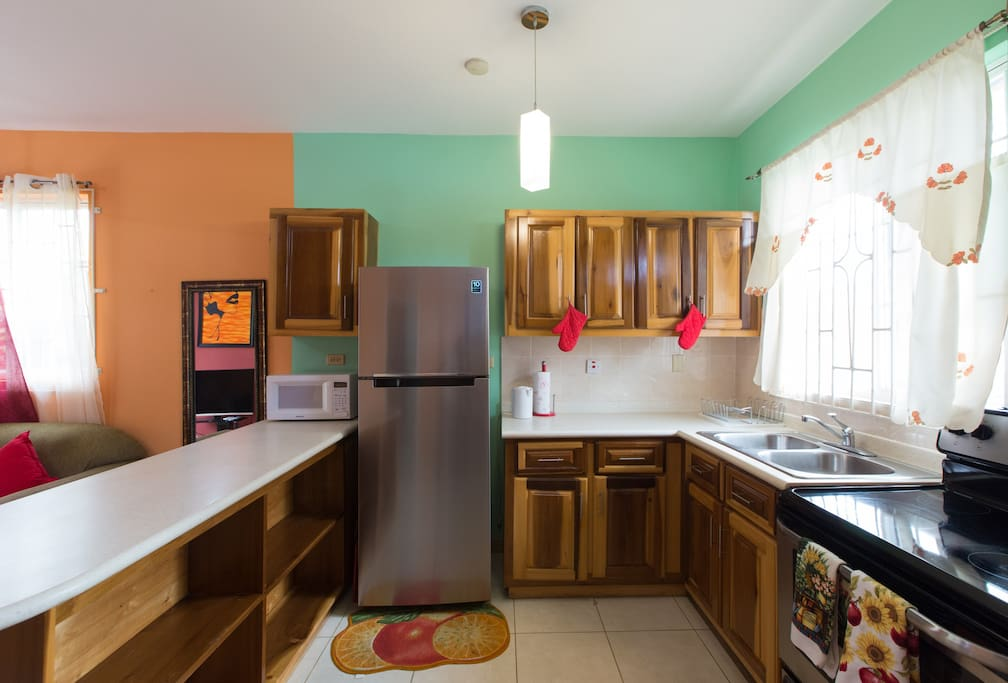 Cook meals in your spacious, well equipped kitchen.
