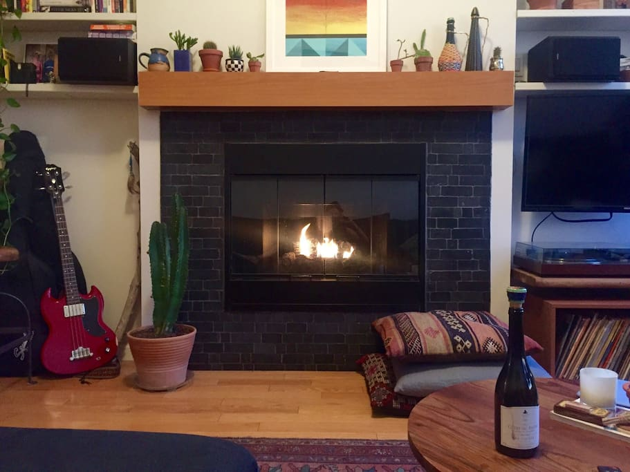 Working gas fire place
