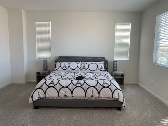 Master suite (King Bed) in a brand New Home