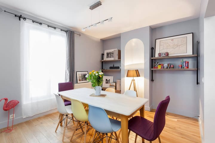 Très grand appartement, Paris porte SUD