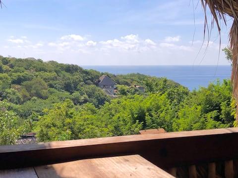 Posada La Catrina loft con hermosas vistas al mar.