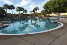 Large community pool .