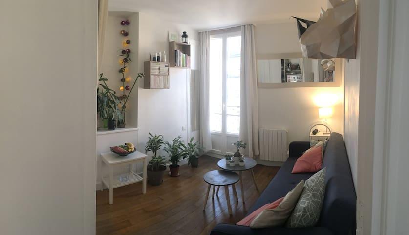 Cozy flat-studio Paris with balcony