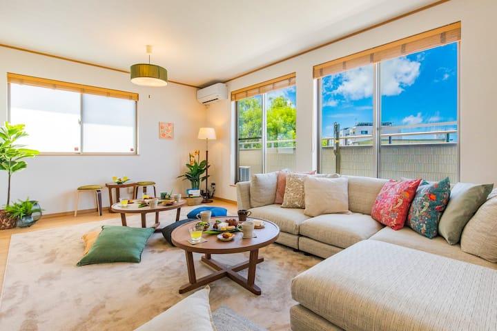 海までわずか5分  広々快適な一軒家を貸し切り ~Clean Private Suite 3~