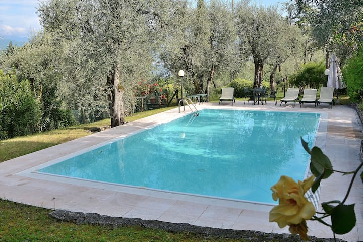 Villa Lake View With Pool Garden And Tennis Court - Torri del Benaco - Villa