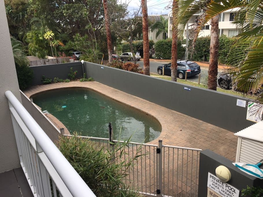 Shared pool in small complex of 9 units