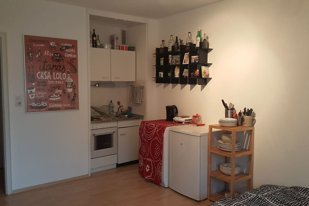 """The """"kitchen"""". Tiny but with everything you need :)"""