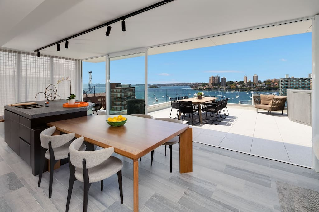 Great views and contemporary interior