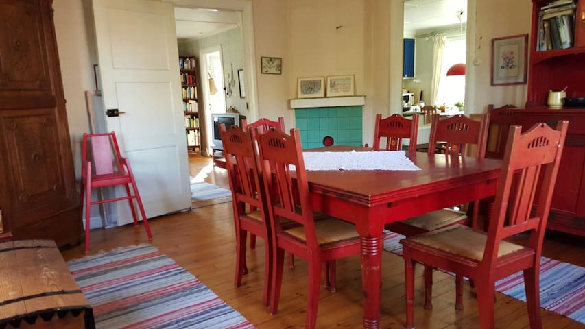 Dining room, sits 12. Floor 1