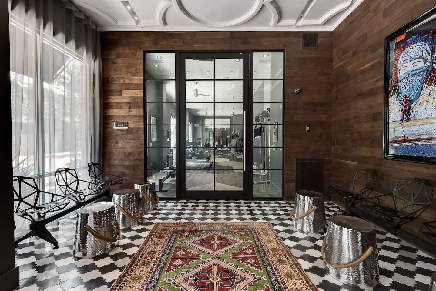 One of Two Guest lobby entrances designed by award winning Interior Group