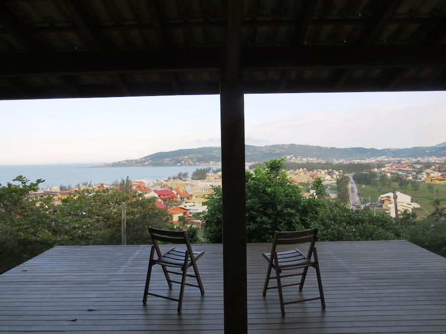 View from the house, only 400 m from Garopaba Beach