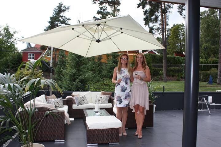 Villa Lagåsen - en oase ved sjøen, nært Oslo
