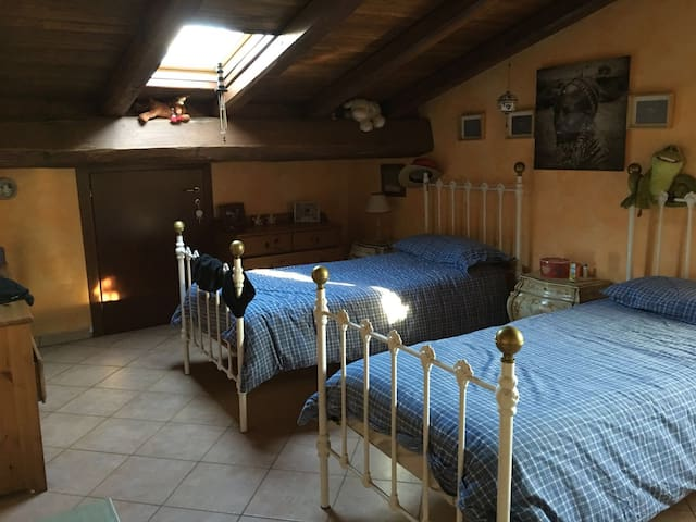 Bedroom in a lovely house in Ostia Antica.