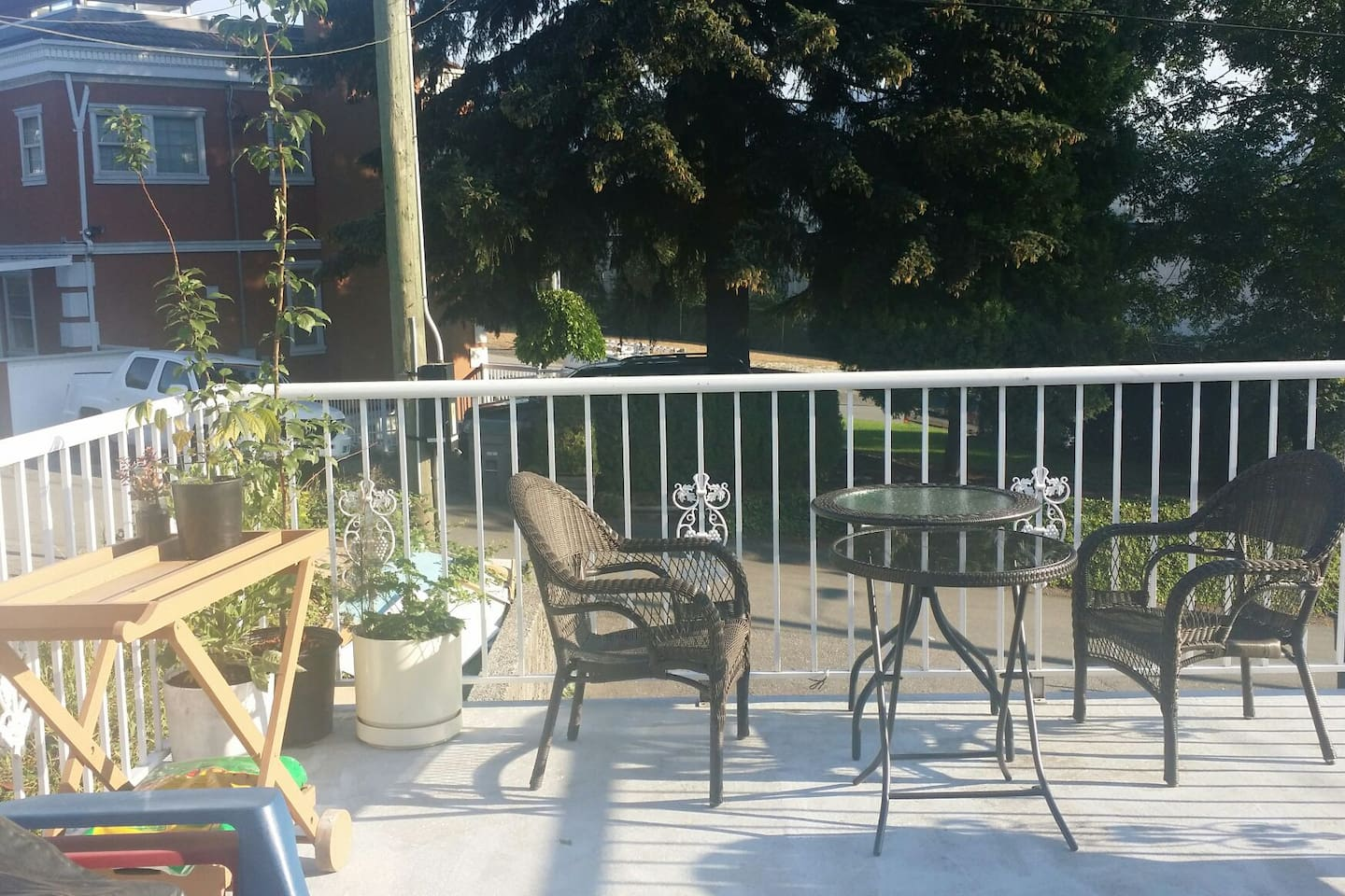 My back porch.  Lots of room.