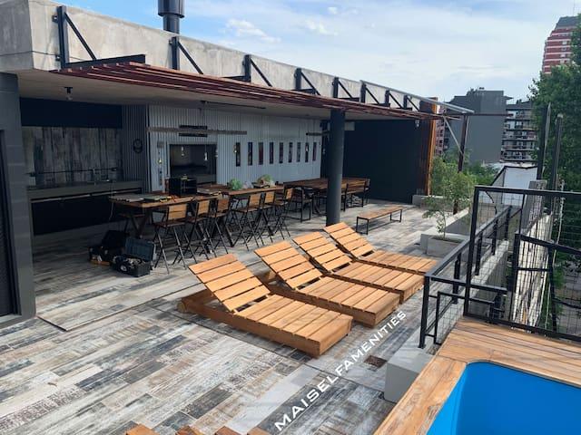 3D-Design Best Loc: Barbecue-Pool-Solarium-Parking