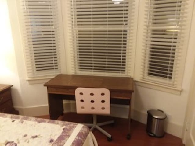 Desk and work area at Bay Window