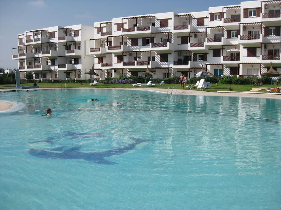 Pool of complex withe separate part for kids