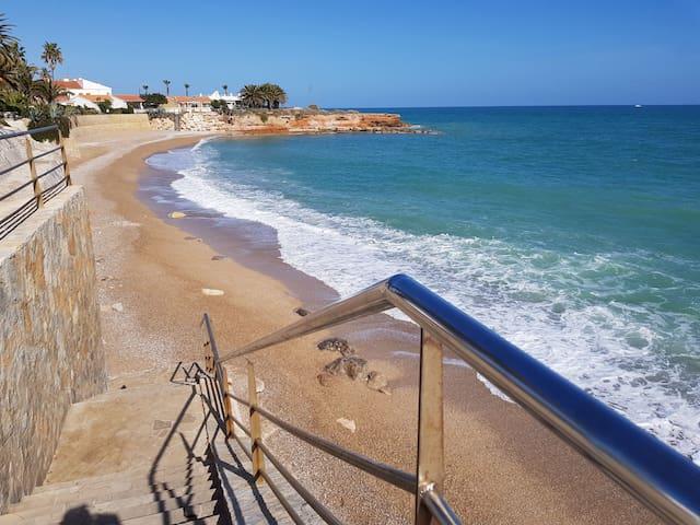 Die Strandbucht eine Gehminute vom Haus