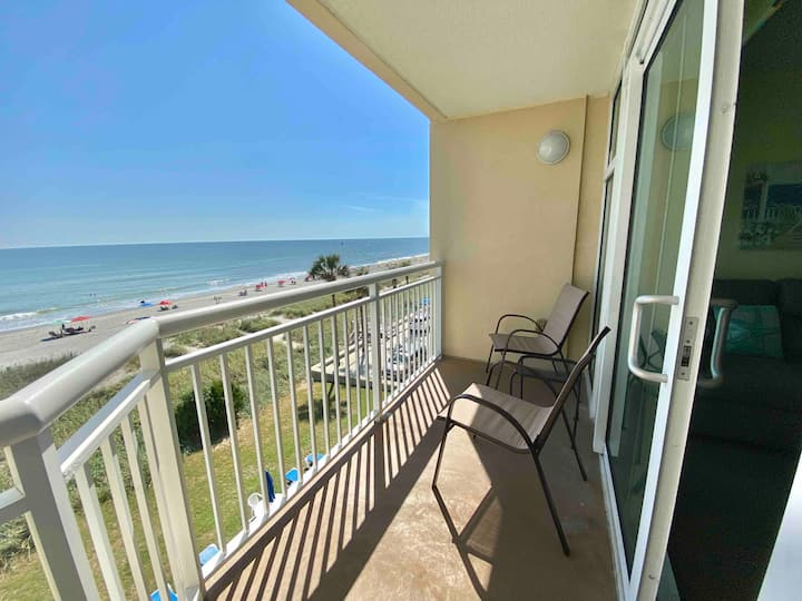 Direct Oceanfront View with Pools+HotTub+LazyRiver