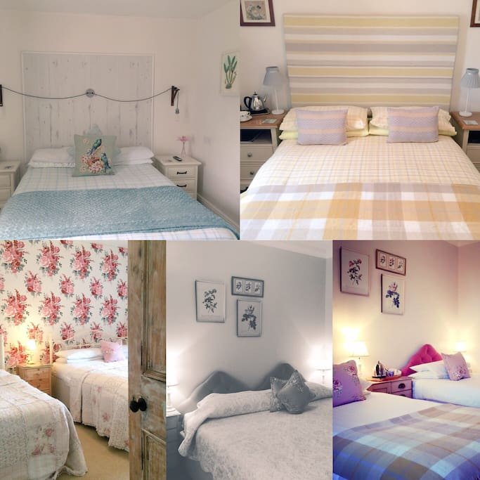 Selection of ensuite rooms available at the b&b