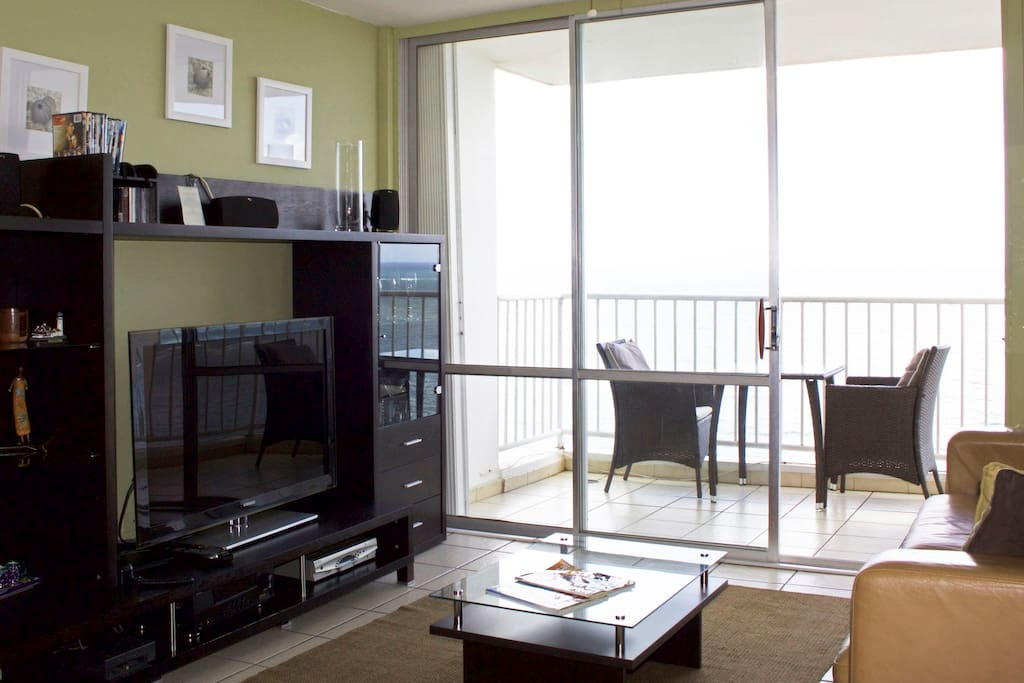 Living room and complete entertainment system.