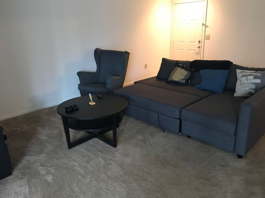 Pullout sofa in living room