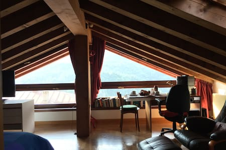 Bright spacious attic on the way to Cortina