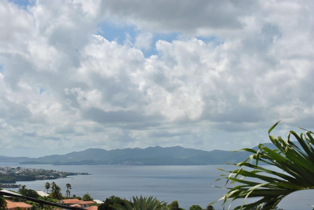 baie de fort de france vue de la terrasse
