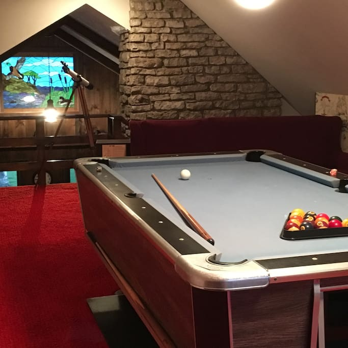 Loft with Pool Table and Ping Pong option