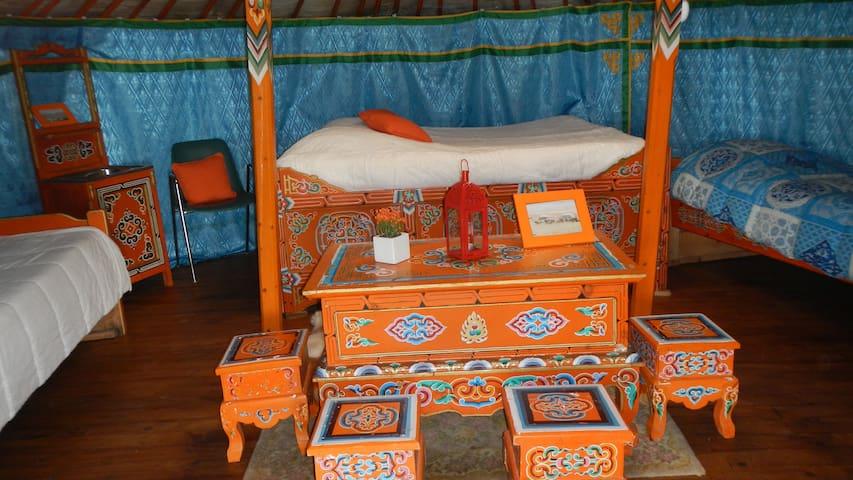Yourte authentique de mongolie