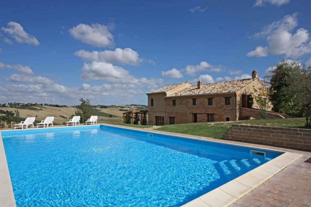 The 12mx6m pool and house