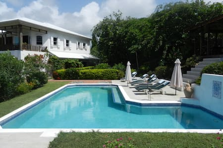 Luxury villa with large swimming pool & ocean view - Belle Isle