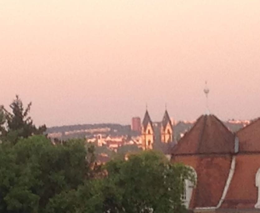 Blick von der Wohnung: Sonnenuntergang / View from the apartment