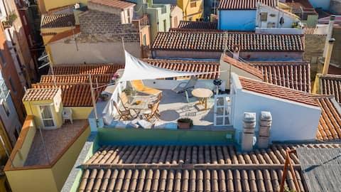 Vue sur les toits de Bosa