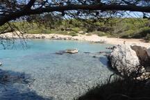 Una delle calette nel parco naturale di Porto Selvaggio (Nardò)