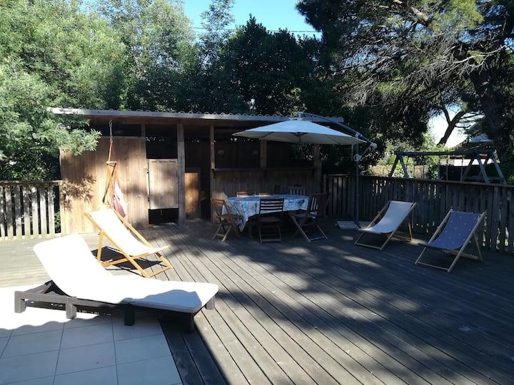 Belle villa au Cap Ferret. Quartier du Mimbeau